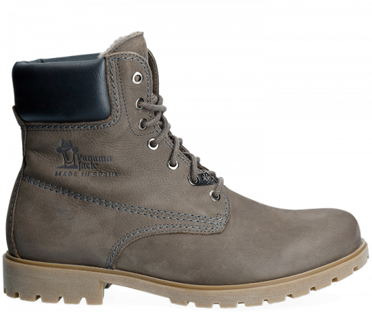 5d745ff109c Grey leather boot with a lining of Sheepskin. Panama 03 Igloo