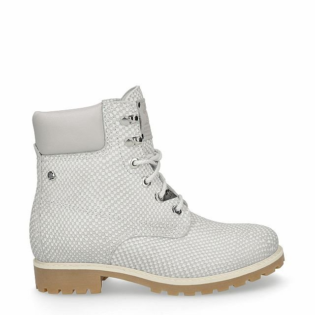 Leather boot in grey with leather inner lining