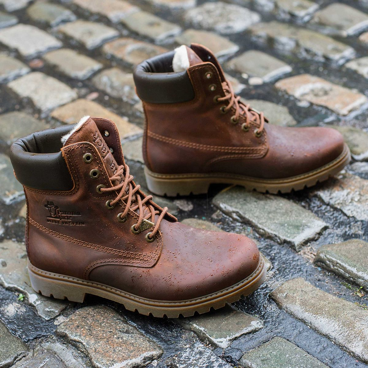 Mens Boot Panama 03 Wool Natural Jack Official Store D Island Shoes Hikers Boots Fashionable Brown Leather With A Woolen Lining