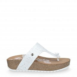 Quinoa Roses White Napa Woman Footwear