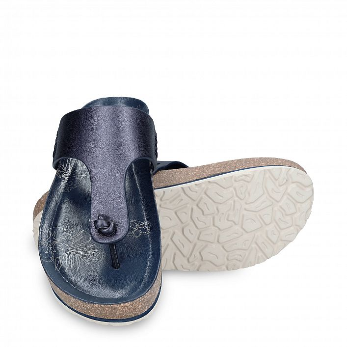 Quinoa Shine Navy blue Napa