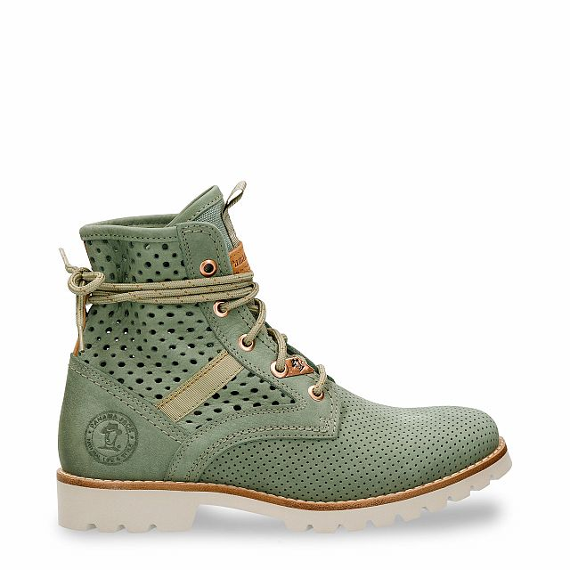 Route Boot Summer Green Nobuck Woman