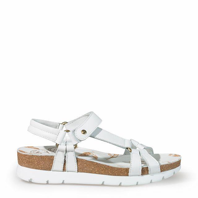 Sandalia de piel blanco