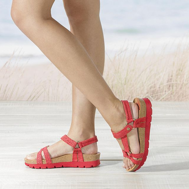 Sally Roses Red Napa Grass Woman Footwear