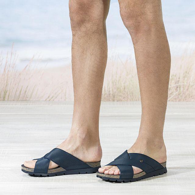 Salman Navy blue Napa Man Footwear