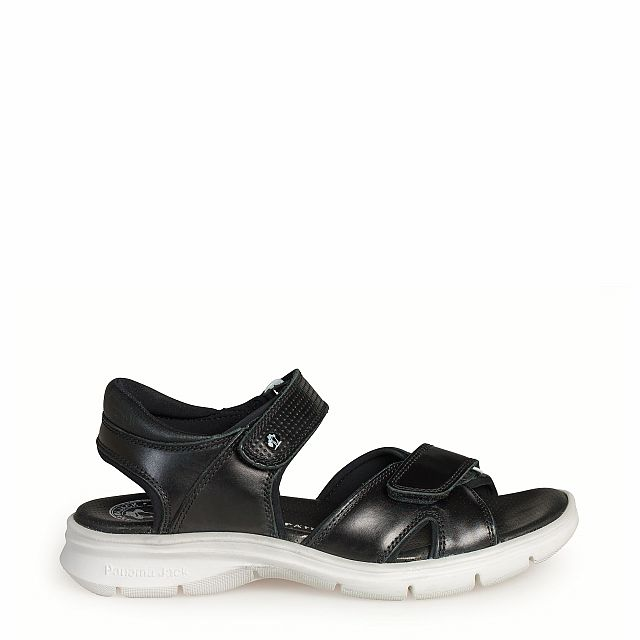 Leather sandal with Lycra inner lining