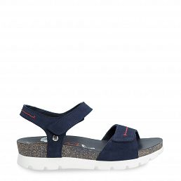 Scarlett Navy Navy blue Velour Woman Footwear