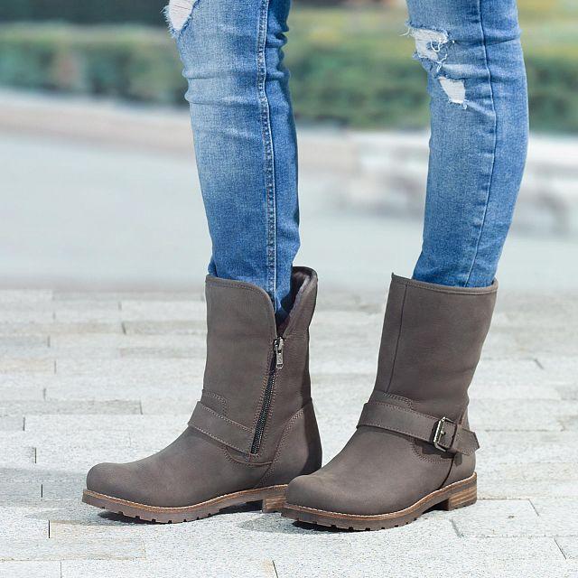 Singapur Igloo Grey Nobuck Woman Footwear