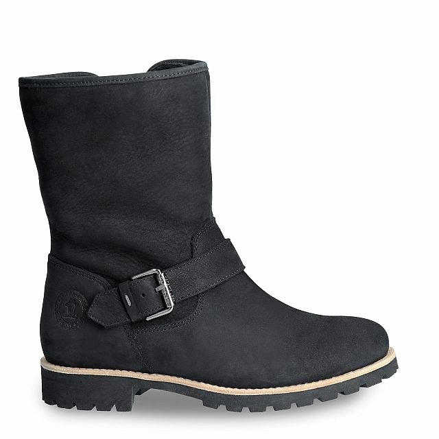 Black leather boot with a lining of Sheepskin