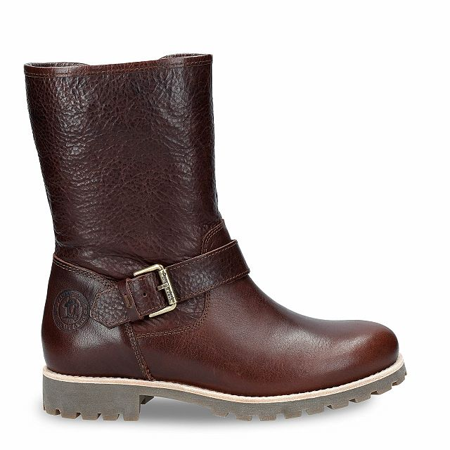 Brown leather boot with a lining of Sheepskin