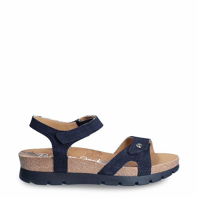 Panama Jack Sulia Menorca Navy blue Velour New-in-woman-summer