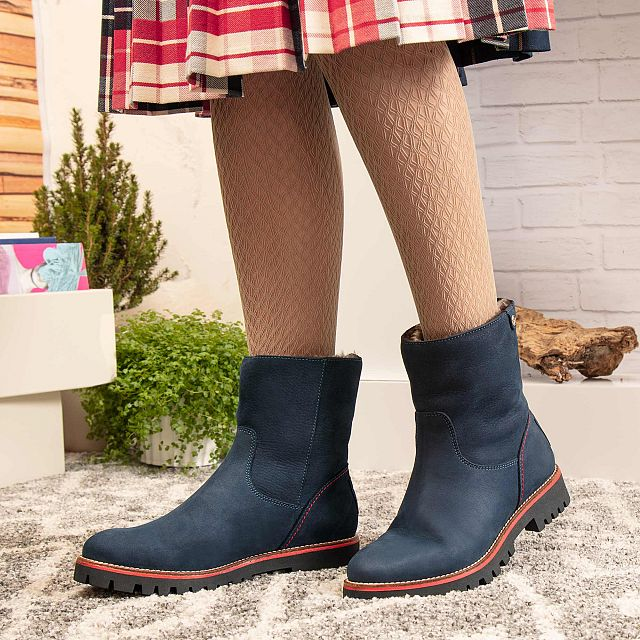 Tayla Navy blue Nobuck Woman Footwear