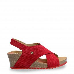 Valeska Menorca Red Velour Woman Footwear