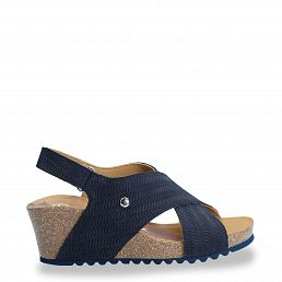 Valeska Menorca Navy blue Velour Woman Footwear