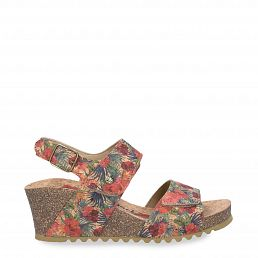 Vanessa Cork Red Tejido Woman Footwear