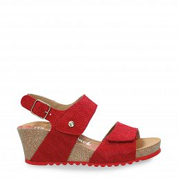 Vanessa Menorca Red Velour Woman Footwear