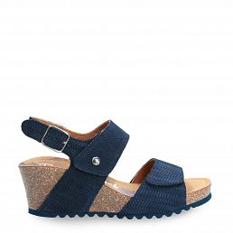 Vanessa Menorca Navy blue Velour Woman Footwear
