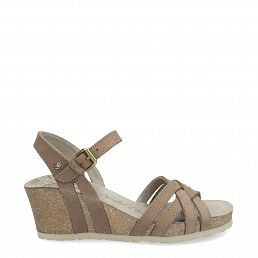 Vera Basics Taupe Napa Grass Woman Footwear