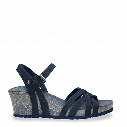 Vera Basics Navy blue Nobuck Woman Footwear