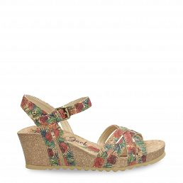 Vera Cork Red Tejido Woman Footwear