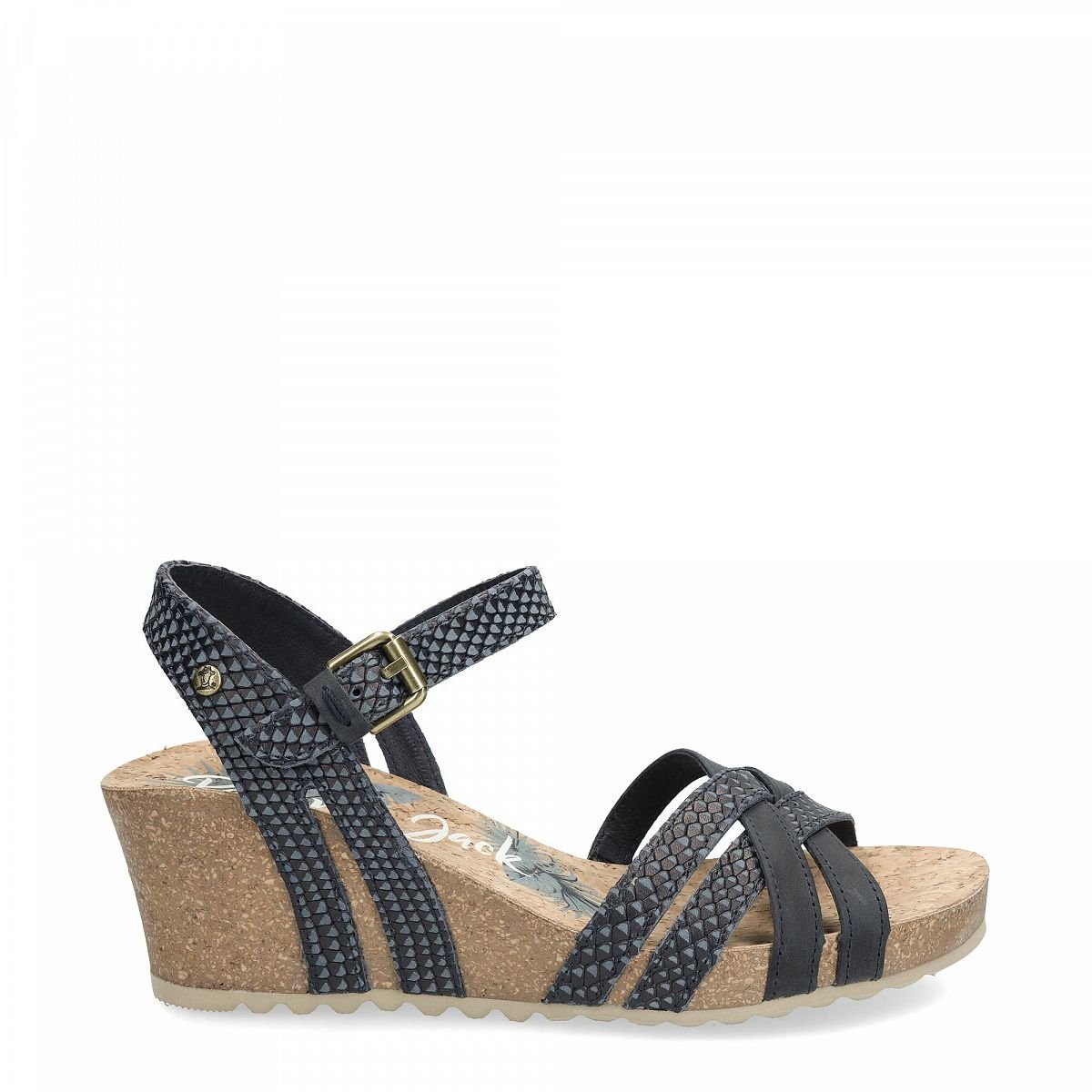 0d641196d2eece Women s sandals VERA SNAKE navy