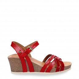 Vera Snake Charol Red Charol Woman Footwear