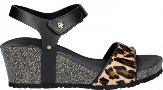 Victory Leopard Black T