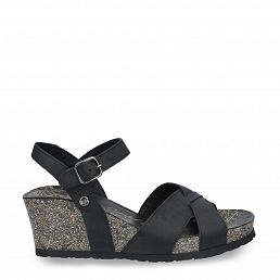 Panama Jack Vika Basics Black Napa Grass Woman Footwear