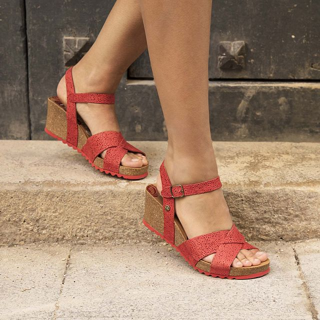 Vika Roses Red Napa Grass Woman Footwear