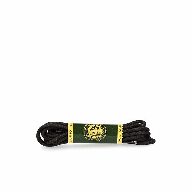 Shoelaces in black for footwear with 6 grommets
