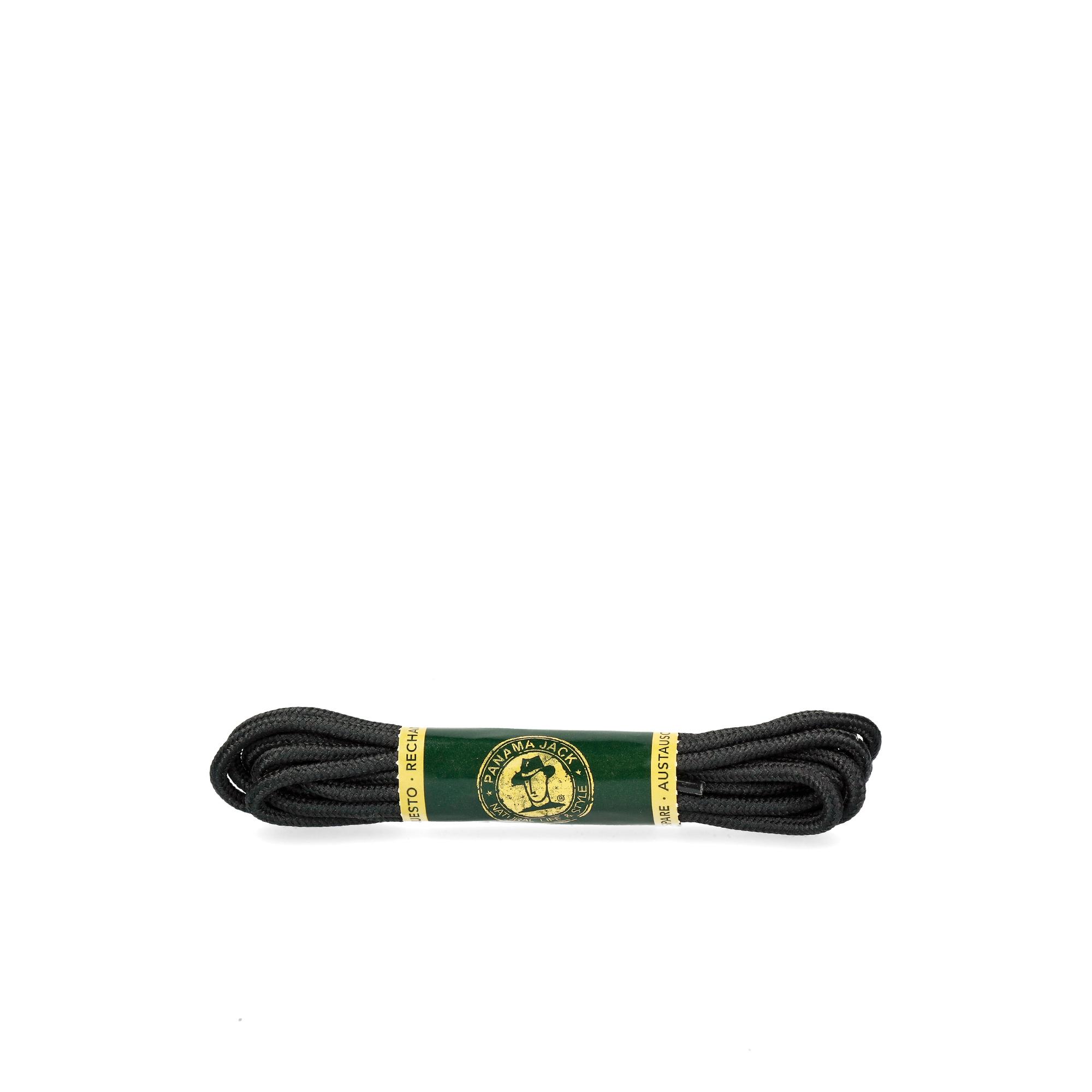 Shoelaces 135 Cm in black Black Poliester